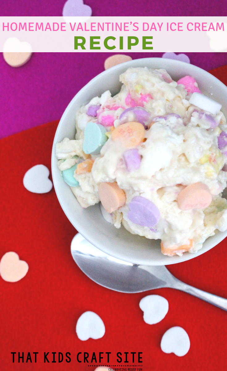 Valentine's Day Homemade Ice Cream Recipe for Kids - a Fun Food Craft - ThatKidsCraftSite.com