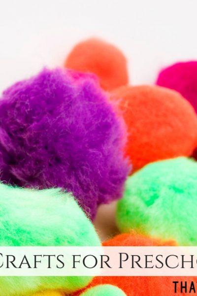 April Crafts for Preschool - Spring Crafts for Preschoolers - ThatKidsCraftSite.com
