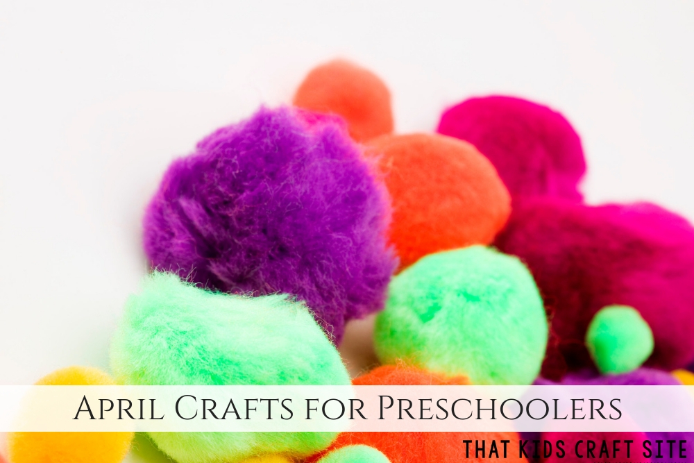 April Crafts for Preschool - Spring Crafts for Preschoolers - ThatKidsCraftSite.com