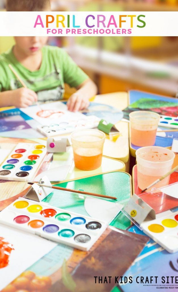 April Crafts for Preschoolers - Preschool Arts and Crafts for April - ThatKidsCraftSite.com