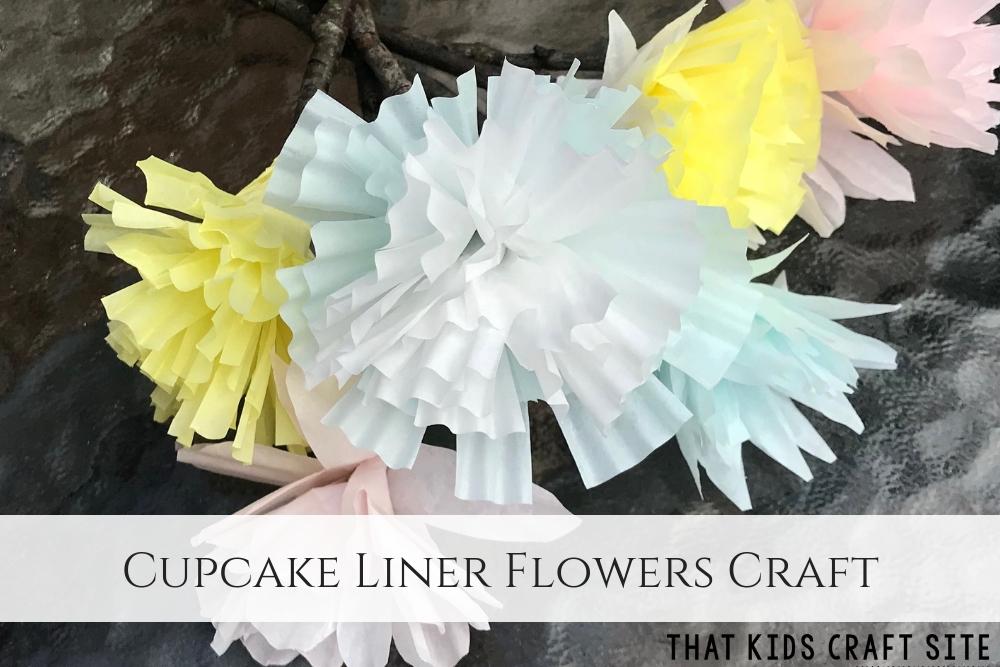 Cupcake Liner Flowers Craft - ThatKidsCraftSite.com