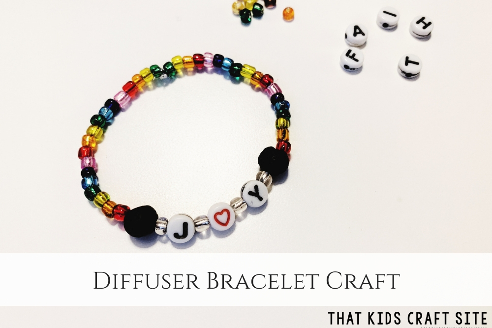Diffuser Bracelet Craft - Lava Stone Diffuser Bracelet - a Kids Diffuser Bracelet - ThatKidsCraftSite.com