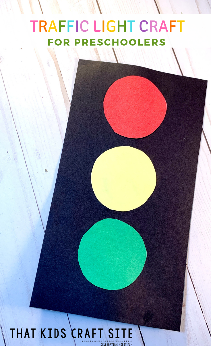 Easy Traffic Light Craft for Preschoolers - a Fun Transportation Craft or Black History Month Craft to Learn About Garrett Morgan - ThatKidsCraftSite.com