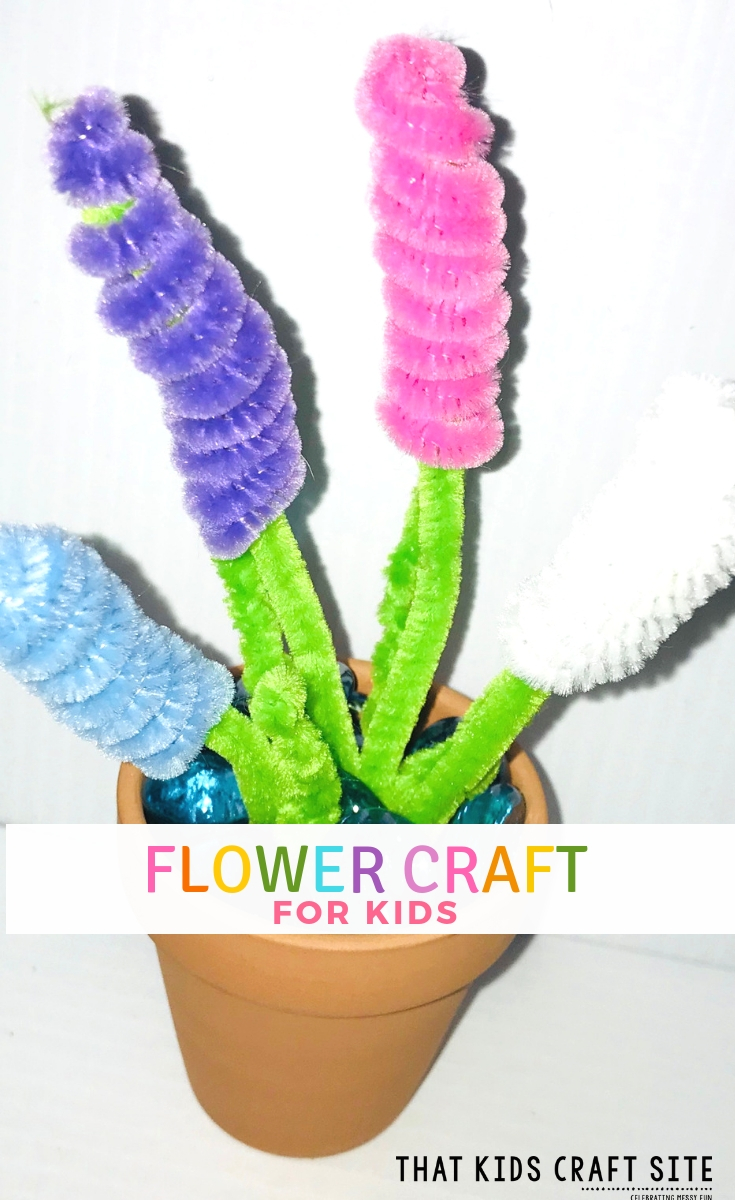Flower Craft - a Spring Hyacinth Flower Craft for Preschoolers and Kids - ThatKidsCraftSite.com