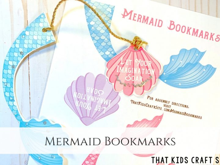 image relating to Free Printable Crafts titled Mermaid Bookmarks Cost-free Printable - That Little ones Craft Website