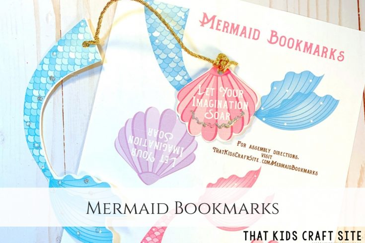 graphic regarding Printable Mermaid Pictures referred to as Mermaid Bookmarks Absolutely free Printable - That Young children Craft Website