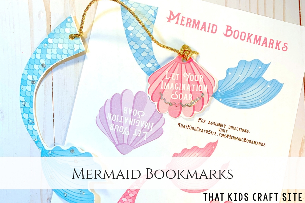 photo about Printable Craft named Mermaid Bookmarks Totally free Printable - That Small children Craft Internet site