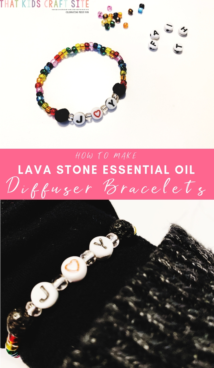 How to Make Lava Stone Essential Oil Diffuser Bracelets - a Tween and Teen Craft - ThatKidsCraftSite.com