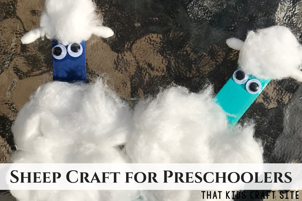 Sheep Craft for Preschoolers - ThatKidsCraftSite.com