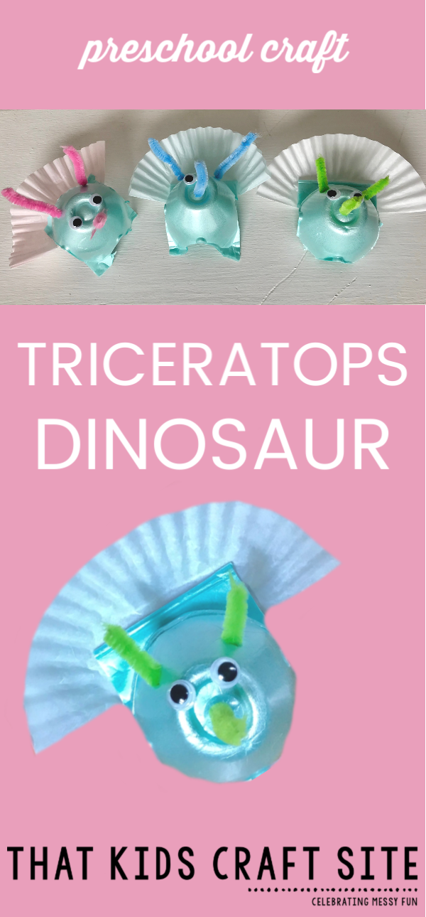 Triceratops Craft for Preschool - ThatKidsCraftSite.com