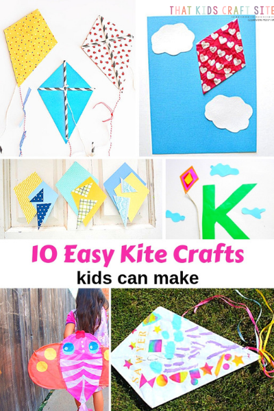 10 Easy Kite Crafts Kids Can Make - ThatKidsCraftSite.com