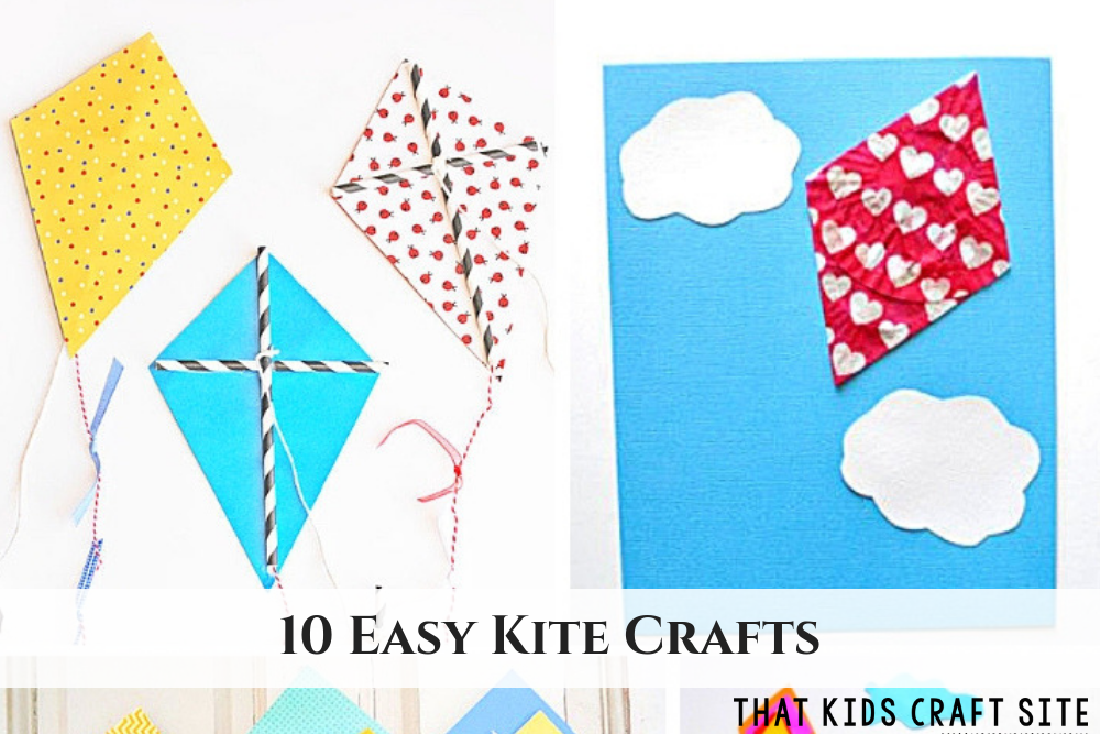 10 Easy Kite Crafts for Kids - ThatKidsCraftSite.com
