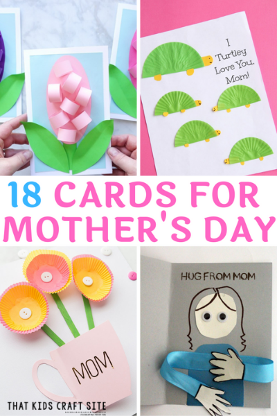 18+ Mother's Day Card Ideas for Kids - ThatKidsCraftSite.com