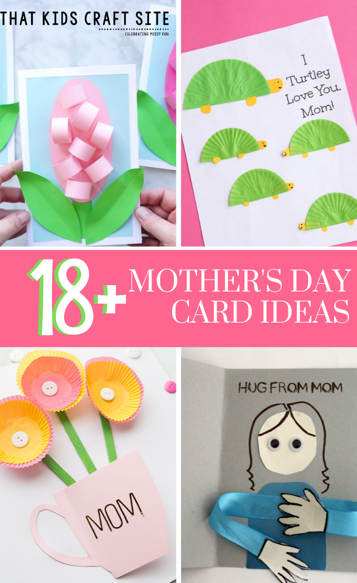 18+ Mother's Day Card Ideas for Kids at Home or in the Classroom - Homemade Mother's Day Card Ideas - ThatKidsCraftSite.com