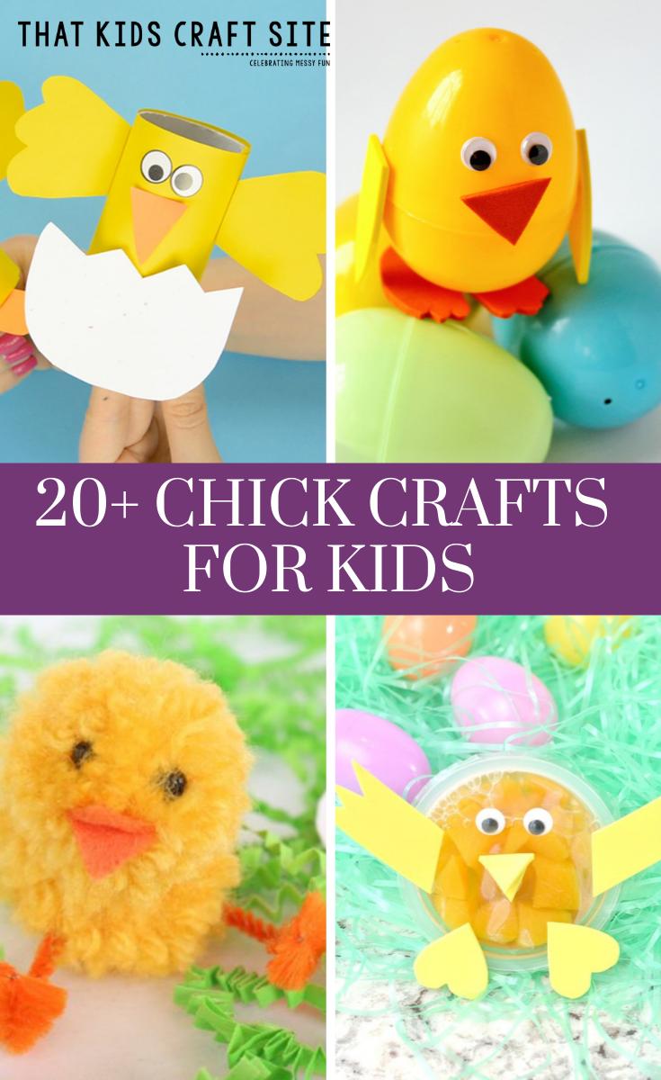 20+ Baby Chick Crafts for Kids - Fun Spring Crafts with Baby Animals - ThatKidsCraftSite.com