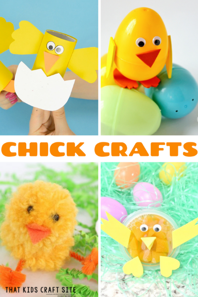 Baby Chick Crafts for Kids - ThatKidsCraftSite.com