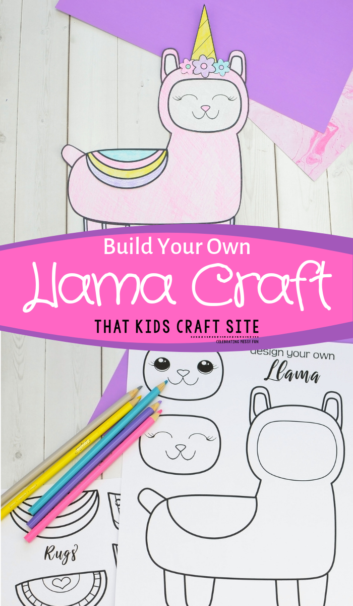 Build Your Own Llama Craft - Make a Sassy Llama or a Llamacorn! - ThatKidsCraftSite.com