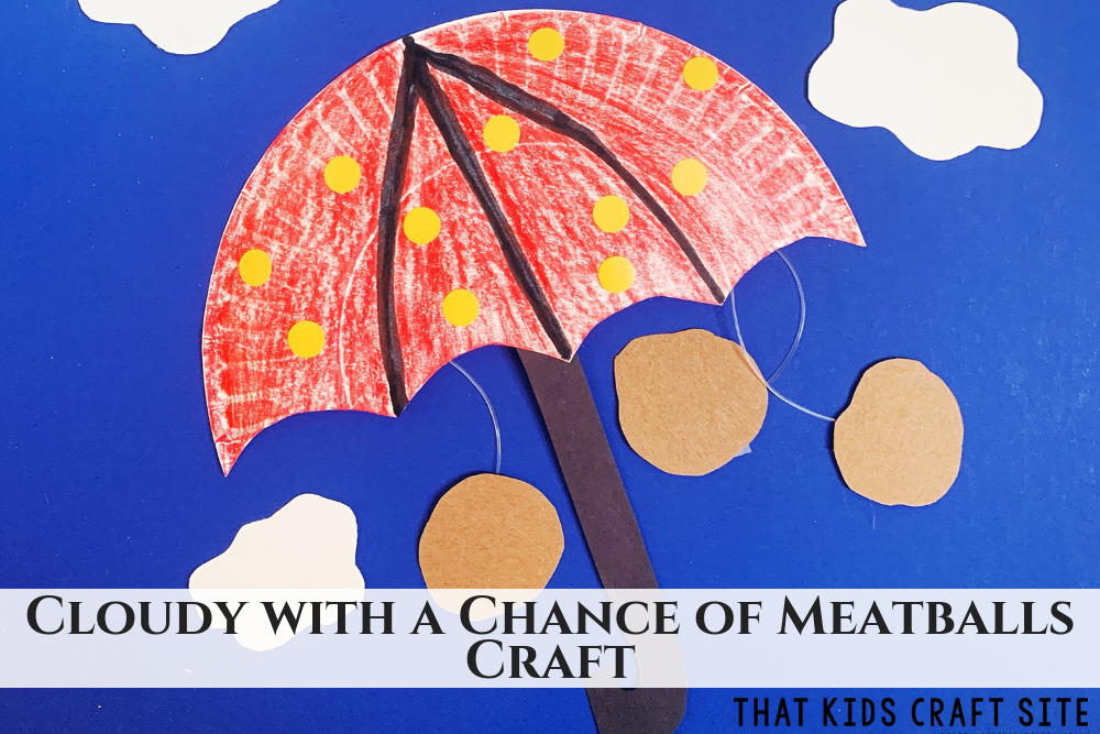 Cloudy with a Chance of Meatballs Craft - ThatKidsCraftSite.com