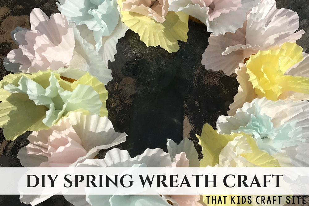 DIY Spring Wreath Craft - ThatKidsCraftSite.com
