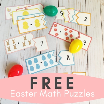 FREE Easter Math Puzzles