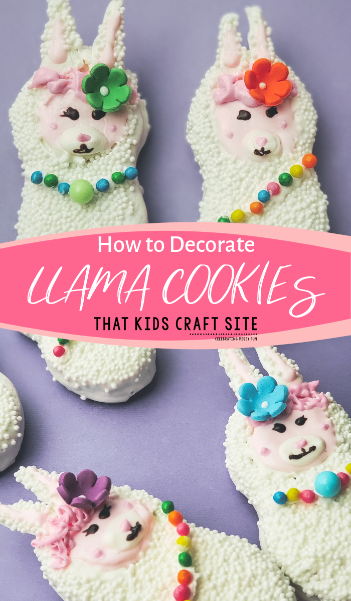 How to Decorate Llama Cookies - Kids Cookie Decorating Instructions - ThatKidsCraftSite.com
