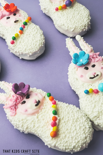 How to Decorate Llama Cookies - a Food Craft for Kids - ThatKidsCraftSite.com