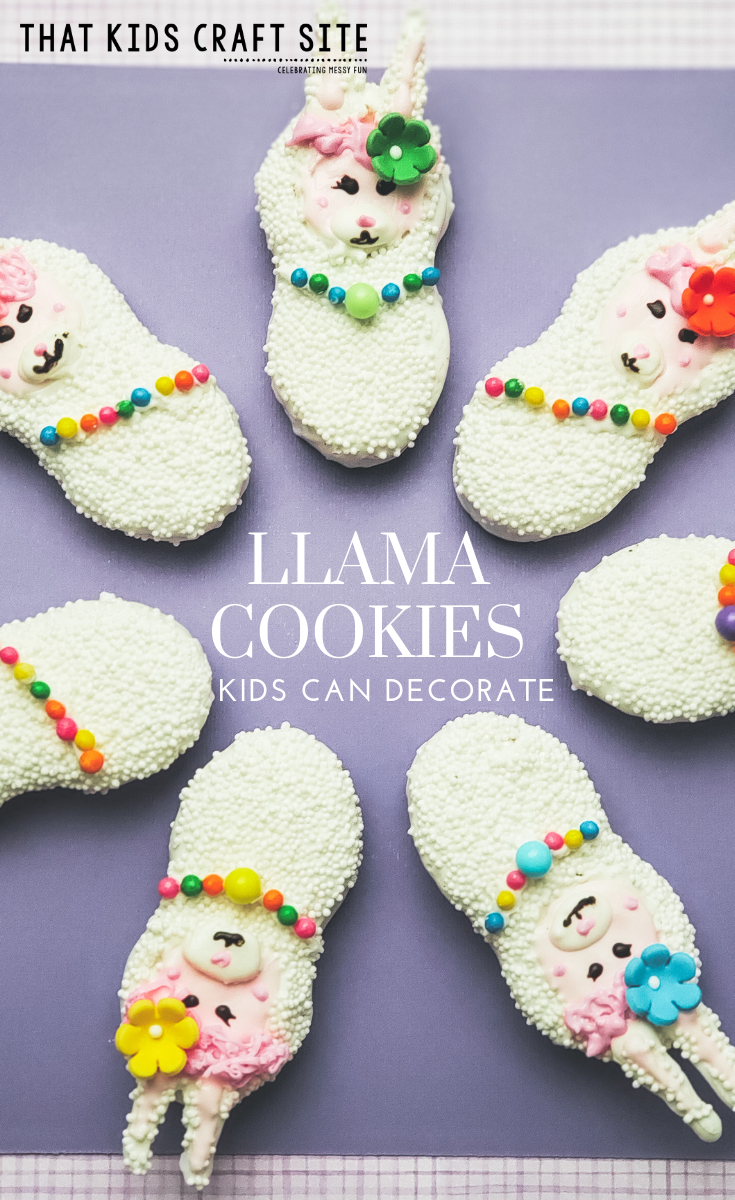 Llama Cookies - Cookies Kids Can Decorate - Baking with Kids - ThatKidsCraftSite.com