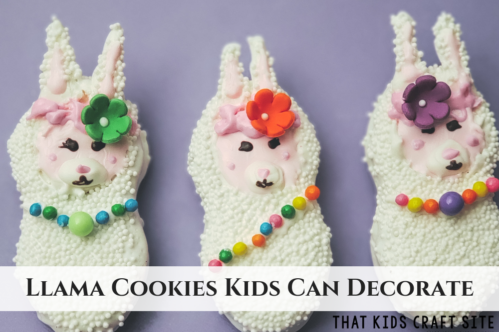 Llama Cookies Kids Can Decorate - ThatKidsCraftSite.com