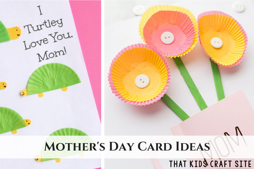 Mother's Day Card Ideas for Kids - ThatKidsCraftSite.com