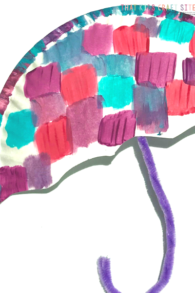 Paper Plate Umbrella Craft for Preschoolers - ThatKidsCraftSite.com