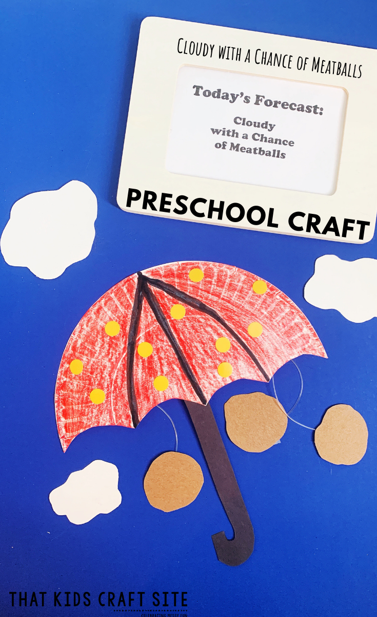 Preschool Craft - Cloudy with a Chance of Meatballs Craft - a Preschool Craft for Kids - ThatKidsCraftSite.com