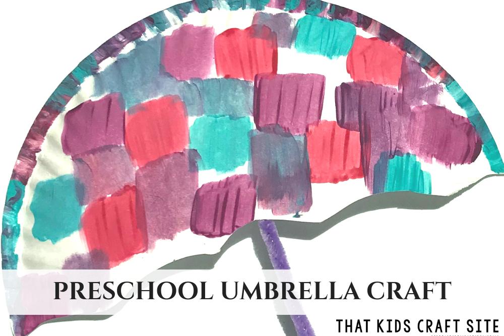 Preschool Umbrella Craft for Kids - ThatKidsCraftSite.com