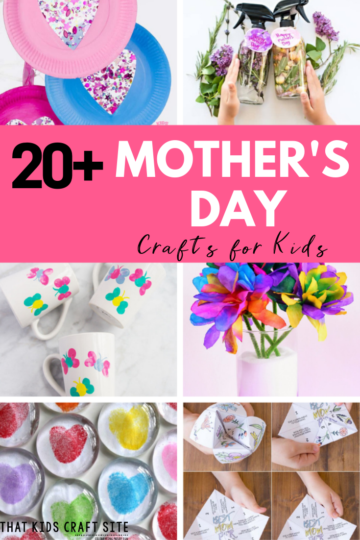 20+ Easy Mother's Day Crafts for Kids - Fun Mother's Day Craft Ideas for Preschoolers and Older - ThatKidsCraftSite.com
