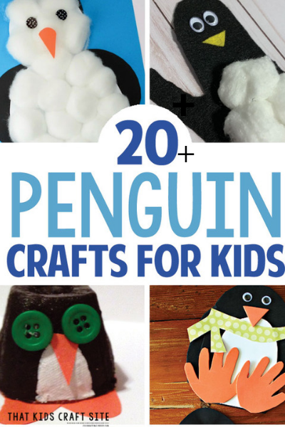 20+ Easy Penguin Crafts for Preschoolers - ThatKidsCraftSite.com