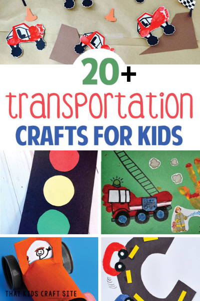 20+ Fun Transportation Crafts for Kids - ThatKidsCraftSite.com
