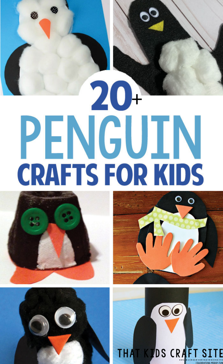 20+ Penguin Crafts for Preschoolers - ThatKidsCraftSite.com