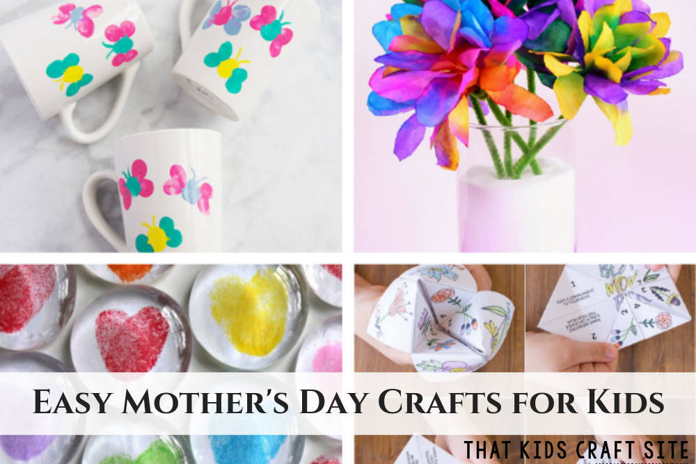 Easy Mother's Day Crafts for Kids - ThatKidsCraftSite.com