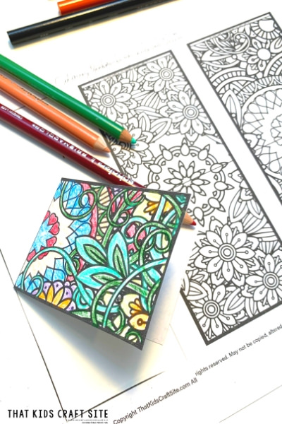 Free Printable Bookmarks to Color - Coloring Bookmarks for Adults and Kids - ThatKidsCraftSite.com