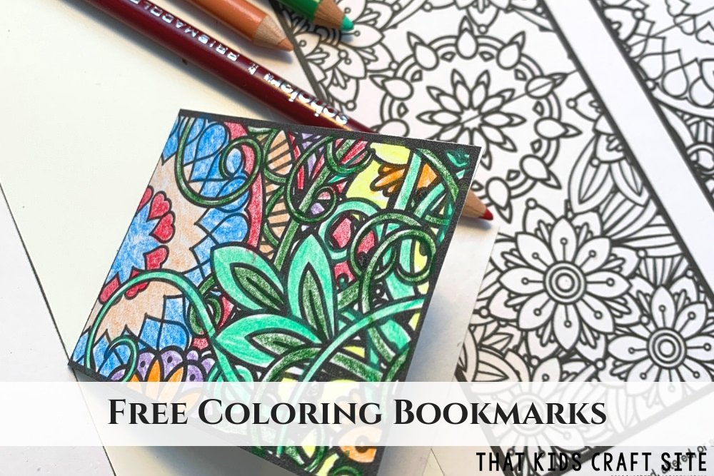 Free Printable Bookmarks to Color for Kids and Adults - ThatKidsCraftSite.com