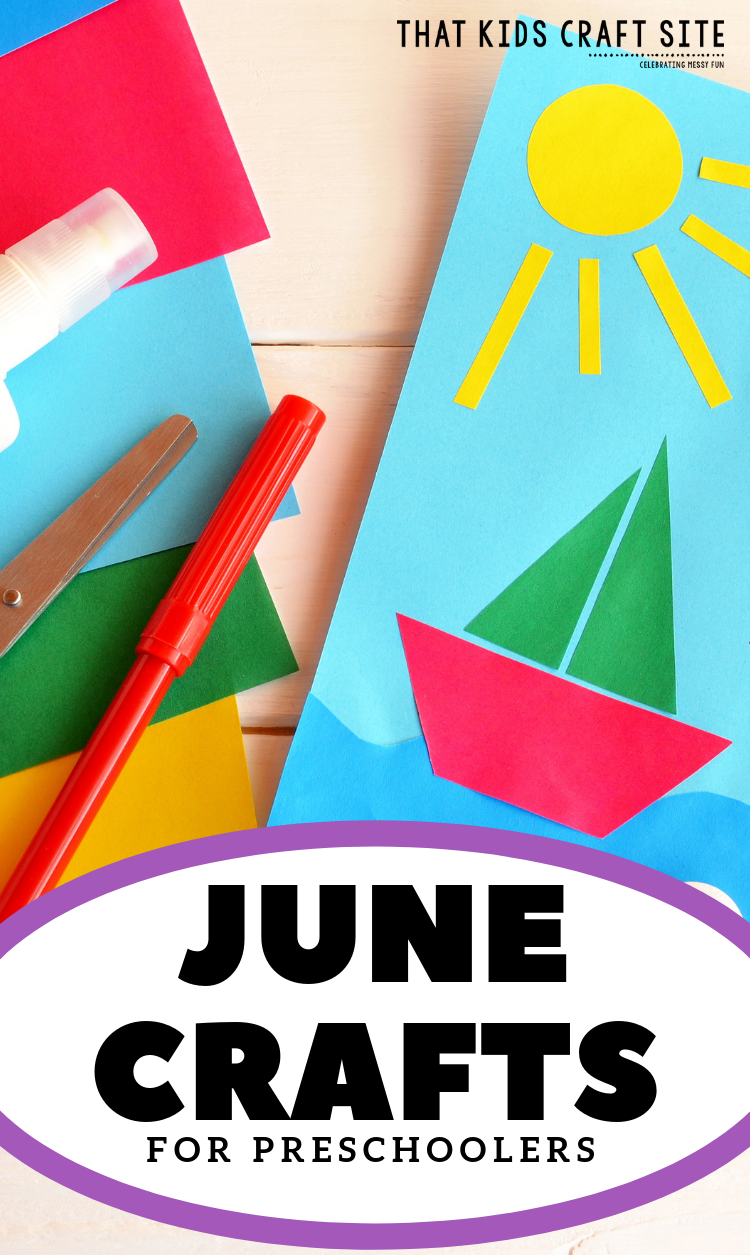 Fun Summer Crafts - Preschool Crafts - June Crafts for Preschoolers - ThatKidsCraftSite.com