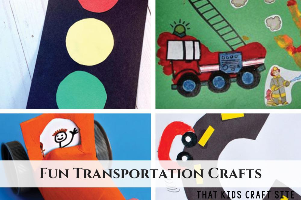 Fun Transportation Crafts and Activities for Preschool - ThatKidsCraftSite.com