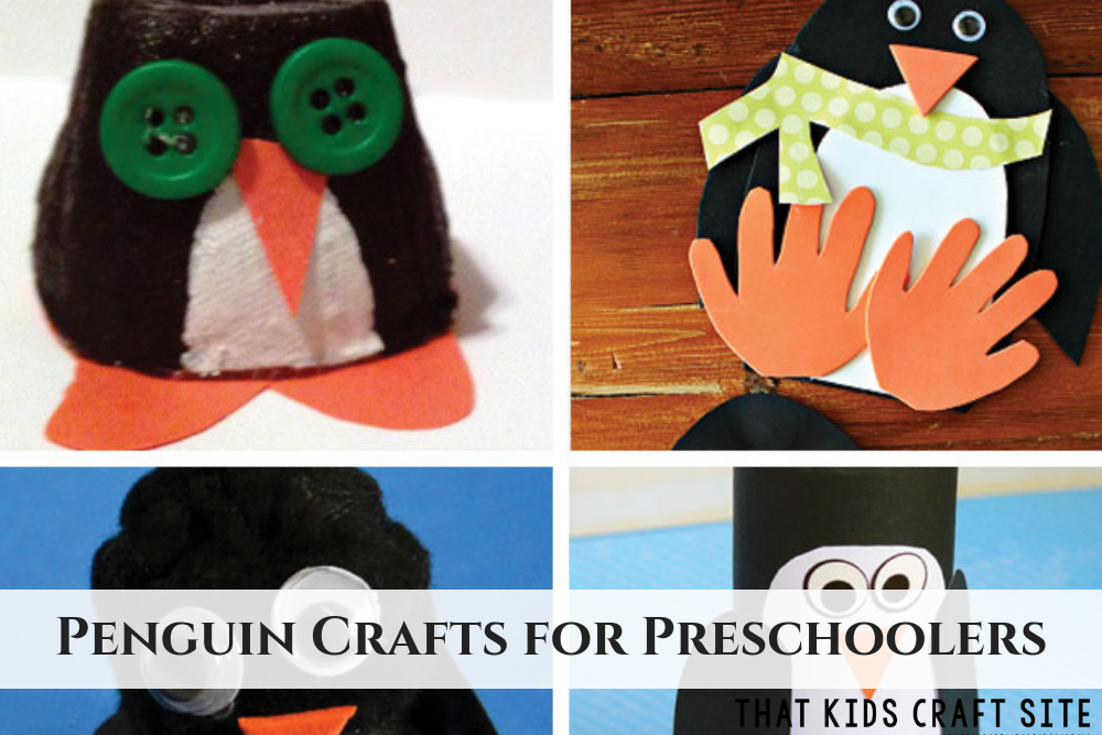 Penguin Crafts for Preschoolers - ThatKidsCraftSite.com