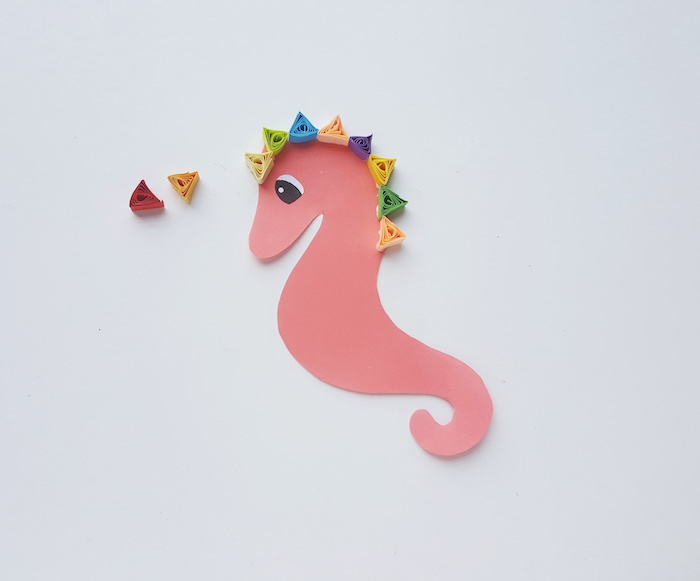 Quilling Seahorse Craft - Step 4 - ThatKidsCraftSite.com