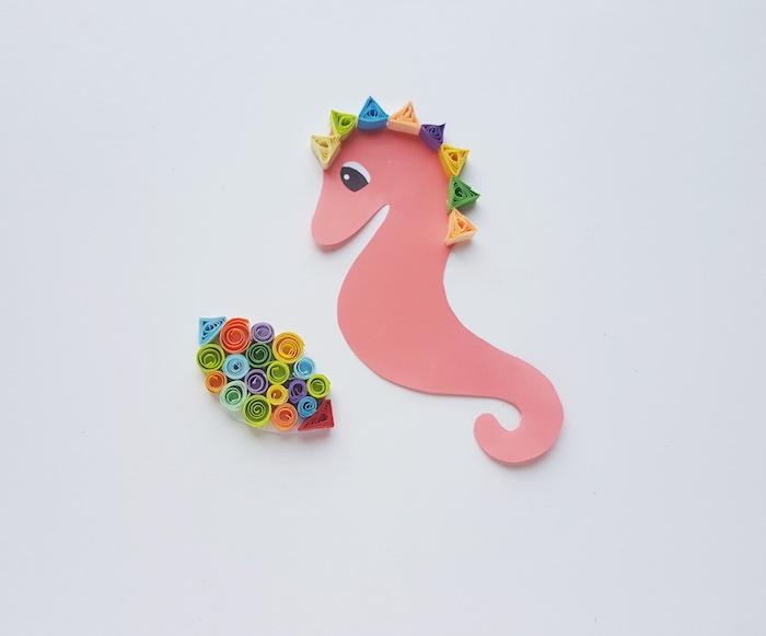 Quilling Seahorse Craft - Step 6 - ThatKidsCraftSite.com
