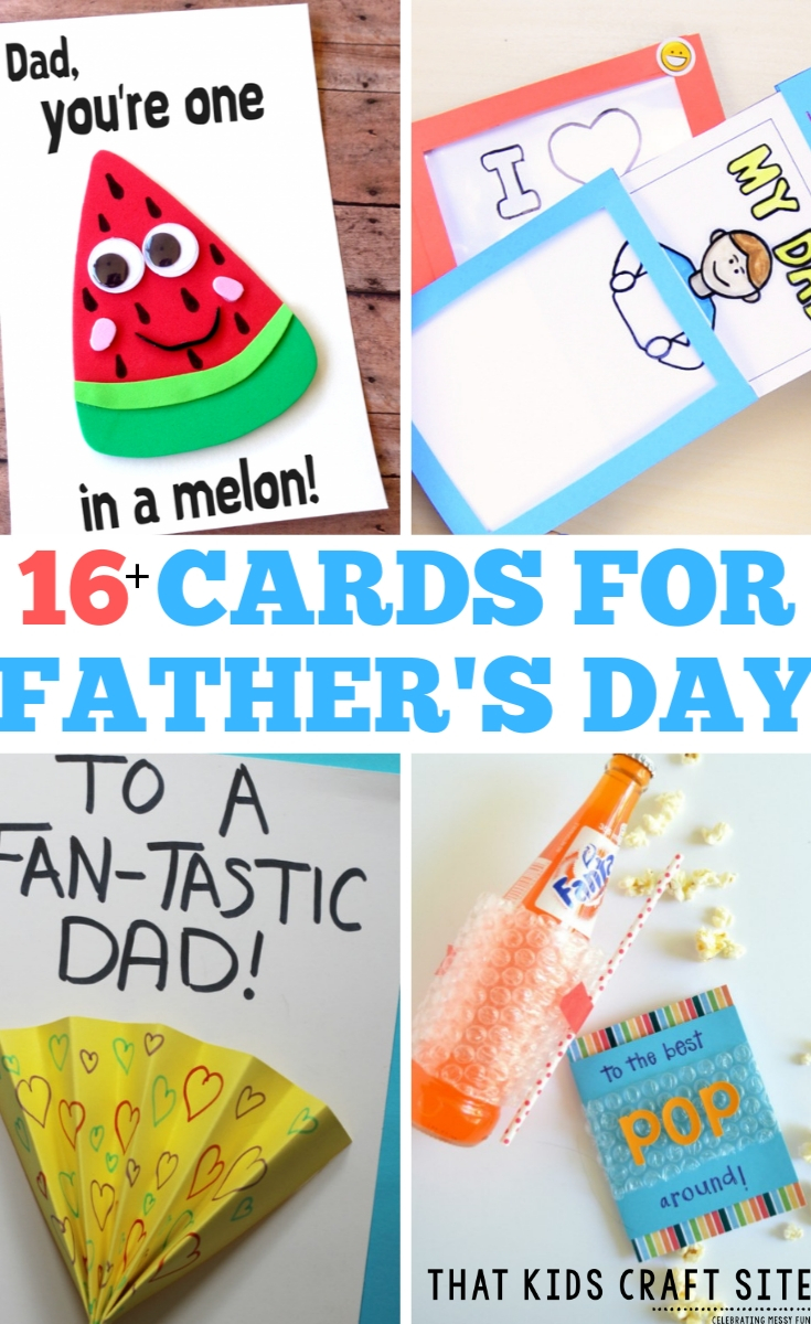 16+ Fun Father's Day Cards for Kids to Make - ThatKidsCraftSite.com