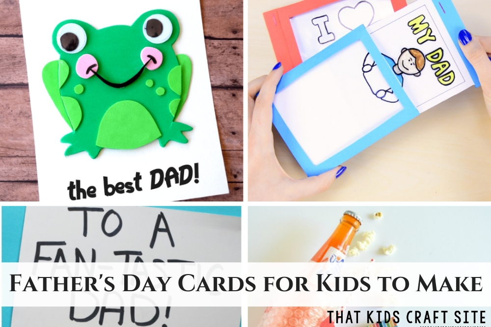 Adorable Father's Day Cards for Kids to Make - ThatKidsCraftSite.com