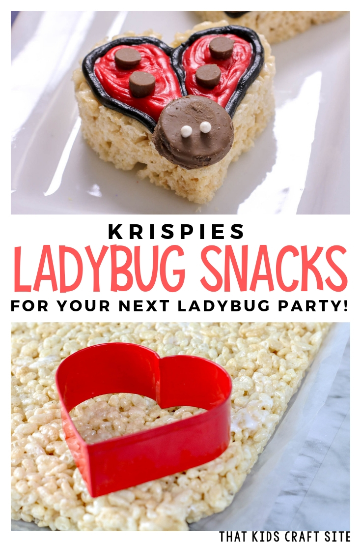 Krispies Ladybug Themed Snack for Your Next Ladybug Party - ThatKidsCraftSite.com
