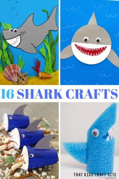 16 Shark Arts and Crafts Activities for Kids This Summer - ThatKidsCraftSite.com