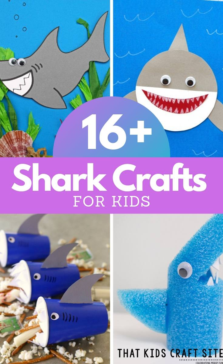 16+ Shark Crafts for Kids - Shark Arts and Crafts for Summer Fun - ThatKidsCraftSite.com