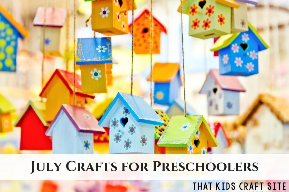 July Crafts for Preschoolers - ThatKidsCraftSite.com